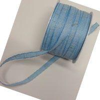 COTTON RIBBON 15mm - Панделка памук de luxe 20 м ролка BABY BLUE