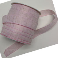 COTTON RIBBON 15mm - Панделка памук de luxe 20 м ролка BABY PINK