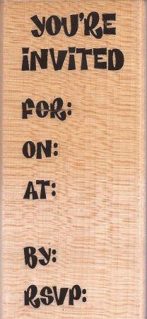 STAMPENDOUS, USA - FUNKY INVITE - Дизайнерски гумен печат 10 x 4см.