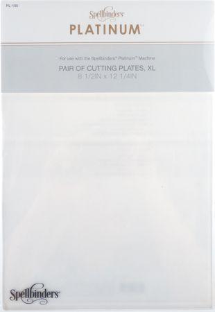 Spellbinders Platinum Die Cutting Plates, XLarge  - Комплект 2 бр A4 подложки за рязане за PLATINUM Machine