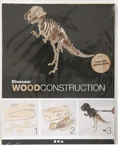 3D Wood Construction Kit DINOSAUR - Дървен конструктор 33x8x23