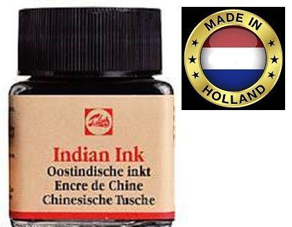 TALENS Indian Ink - Фин графичен черен туш 20ml