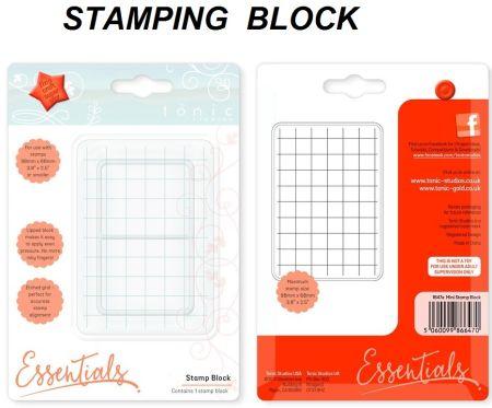 ACRYLIC STAMPING BLOCK - Aкрилен блок TONIC Studios 68 X 95 mm