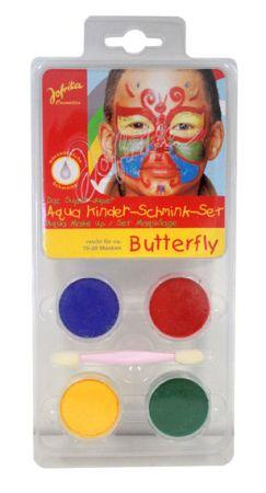 Aqua Make-up set ,Germany  - Комплект бои за лице тяло + четка, BUTTERFLY