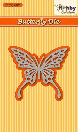 "Hobby Solution dies ""butterfly-2"" 71x63mm - Фигурална щанца за рязане и релеф HSDJ005"