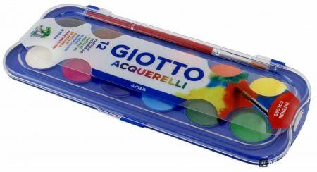 GIOTTO AQUARELL 12 - Водни / акварелни бои 12цв + четка