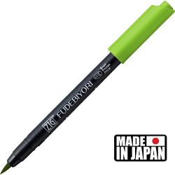 FUDEBIYORI BRUSH PEN * JAPAN - маркер четка LIGHT GREEN