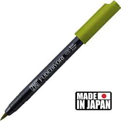 FUDEBIYORI BRUSH PEN * JAPAN - маркер четка OLIVE GREEN