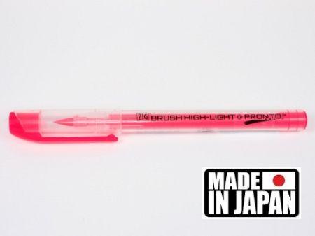 ZIG BRUSH HI LITE PRONTO * JAPAN - Флуорисцентен маркер четка PINK
