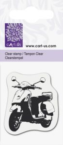 Clear stamp 5x6cm  - Дизайнерски  печат SCOOTER