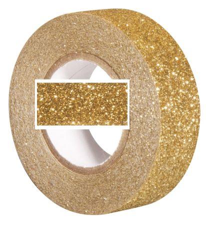 RAYHER GLITTER  tape - Брокатно тиксо  15мм х 5м GOLD