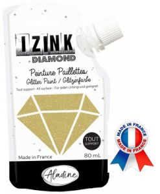 DIAMOND GLITTER PAINT - Универсална брокатна боя  80мл  GOLD