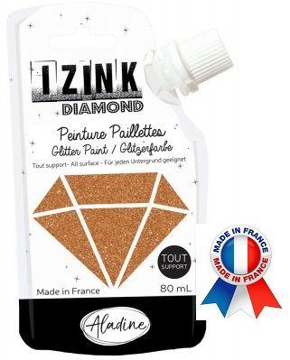 DIAMOND GLITTER PAINT - Универсална брокатна боя  80мл  COPPER