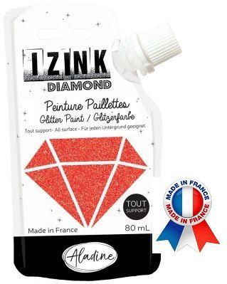 DIAMOND GLITTER PAINT - Универсална брокатна боя  80мл  RED