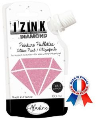 DIAMOND GLITTER PAINT - Универсална брокатна боя  80мл  ROSE
