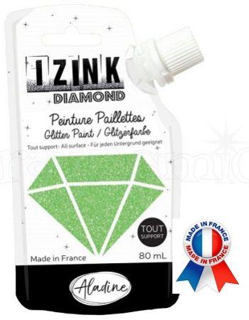 DIAMOND GLITTER PAINT - Универсална брокатна боя  80мл  LIGHT GREEN