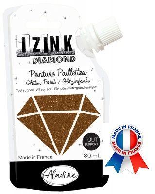 DIAMOND GLITTER PAINT - Универсална брокатна боя  80мл  BROWN