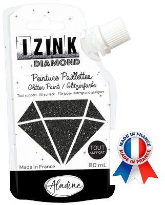 DIAMOND GLITTER PAINT - Универсална брокатна боя  80мл  BLACK