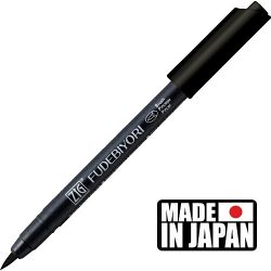 FUDEBIYORI BRUSH PEN * JAPAN - маркер четка BLACK