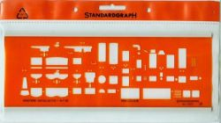 STANDARDGRAPH SANITARY  TEMPLATE - Шаблон за чертане №7373