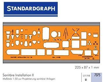 STANDARDGRAPH SANITARY  TEMPLATE - Шаблон за чертане №7375