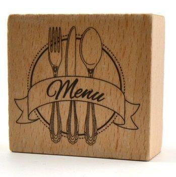 TOGA STAMP  - Гумен печат на дървено блокче MENU