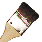 "LANGNICKEL  BROWN BRUSH 1.5""- Плоска мека натурална четка  38мм"