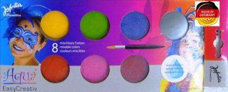 AQUA Jofrika Germany   - AQUA бои за лице / тяло ПАЛИТРА 8 цв + четка