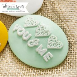 ALLISON KREFT DESIGN RESIN - Деко  от полимер CAMEO YOU AND ME