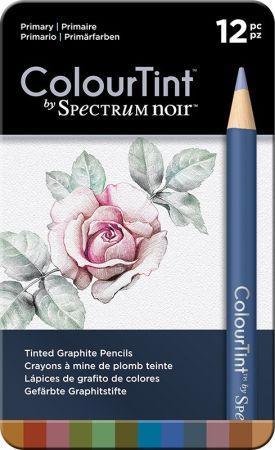 SPECTRUM COLOUR TINT Pencils SET - Метална кутия цветни графитни моливи 12цв  -  PRIMARY