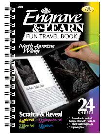 """Engrave & Learn - Книга за гравиране """"12 Американски диви животни"""""""