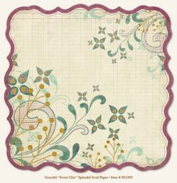 "MME SO SOPHIE ""Sweet Chic"" Splendid Swirl, USA 12 X 12  - Дизайнерски скрапбукинг картон 30,5 х 30,5 см."
