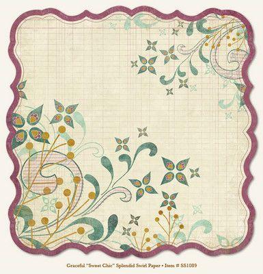 "MME SO SOPHIE ""Sweet Chic"" Splendid Swirl, USA 12 X 12  - Дизайнерски скрапбукинг картон 30,5 х 30,5 см."