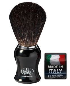 Omega 666 Black Badger shaving brush - Четка  язовец