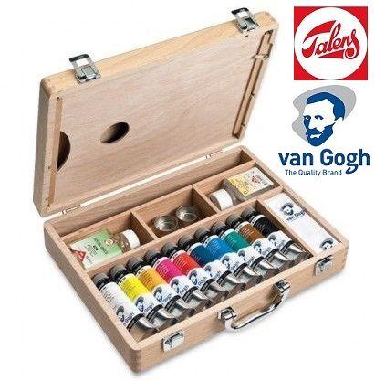 VAN GOGH OIL BOX - К-кт маслени бои и помощни материали лукс PROMO