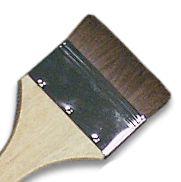 "LANGNICKEL BROWN BRUSH 2.5""- Плоска натурална четка  70мм"
