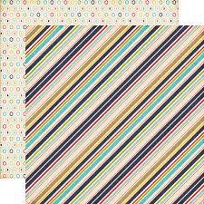 ECHO PARK USA #  BOY STRIPS - Дизайнерски двустранен скрапбукинг картон 30,5 х 30,5 см.