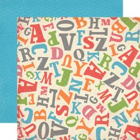 CARTA BELLA USA # TOSSED LETTERS - Дизайнерски двустранен скрапбукинг картон 30,5 х 30,5 см.