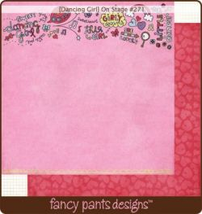 FANCY PANTS USA # ON STAGE - Дизайнерски двустранен скрапбукинг картон 30,5 х 30,5 см.