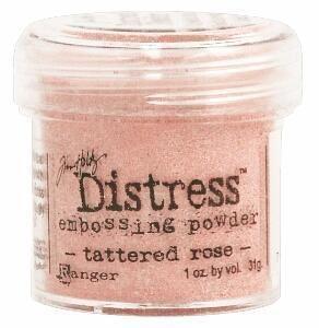`Distress` Ембос Пудра  - Tattered rose