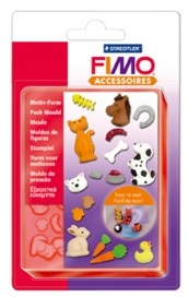 FIMO PUSH MOULDS - СИЛИКОНОВИ форми 3D отливки HAPPY BIRTHDAY