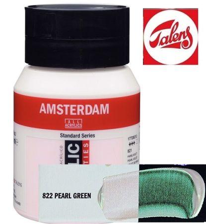 AMSTERDAM ACRYLIC - Акрилна боя за живопис 500 мл. - PEARL GREEN 822