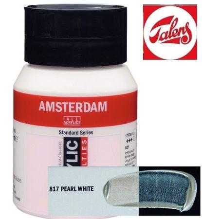 AMSTERDAM ACRYLIC - Акрилна боя за живопис 500 мл. - PEARL WHITE 817