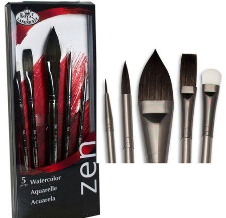 ZEN BRUSH SET - Професионални четки за  рисуване за акварел и коприна SET834