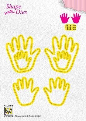 "Shape Dies ""3x Baby hands"" 3,8x4,2 + 2,8x3,1 + 1,9x2,1 cm"