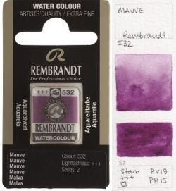 REMBRANDT WATERCOLOUR PAN - Екстра фин акварел `кубче` MAUVE 532
