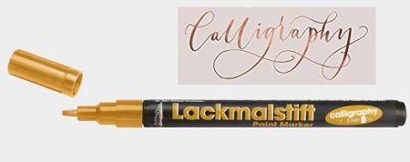 CALLIGRAPHY  MARKER  1-3mm  -  Лаков маркер  GOLD