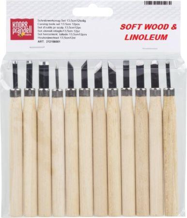 WOODCARVING SET - Комплект 12 бр длета за дърворезба 13см