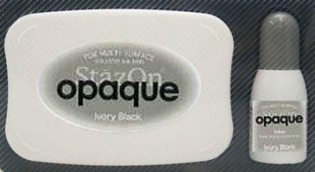 StazOn `OPAQUE` - тампон + мастило за всякаква твърда или гланцирана повърхност - плътно ЧЕРНО