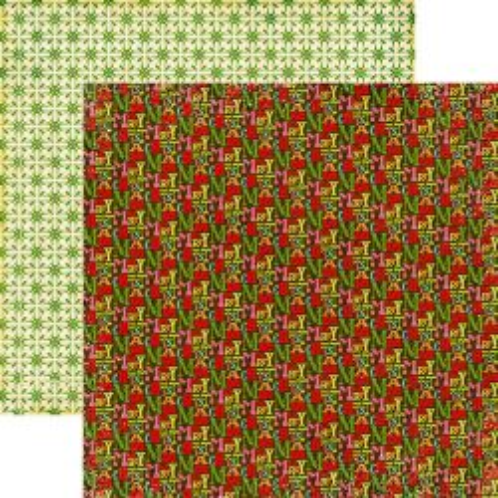 ECHO PARK USA #  - Дизайнерски двустранен скрапбукинг картон 30,5 х 30,5 см.